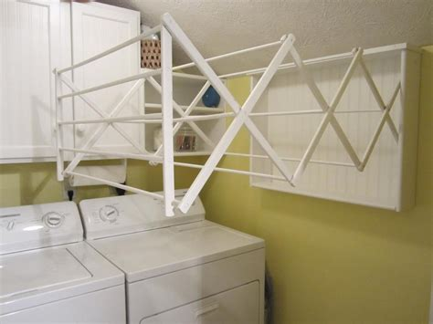 kitchen ceiling pot hangers your own laundry room drying rack easy diy project