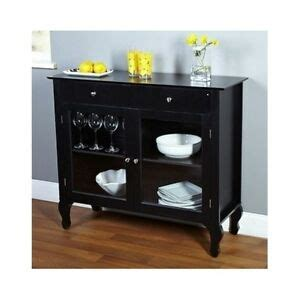 Black Wood Sideboard by Black Buffet Cabinet Solid Wood Storage Dining Room