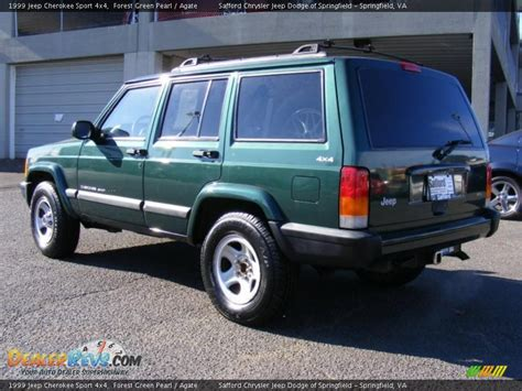 jeep cherokee sport green 1999 jeep cherokee sport 4x4 forest green pearl agate
