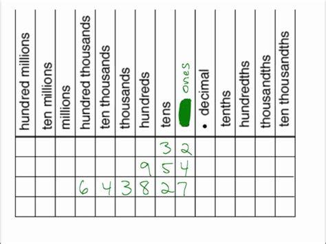 grade 6 decimal place value worksheets addition of