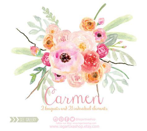 bottle brush bouquet clipart watercolor 2584547