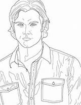 Supernatural Coloring Pages Sam Winchester Drawing Castiel Dean Printable Outline Line Smith Etsy Drawings Tv Colouring Adult Copic Books Fan sketch template