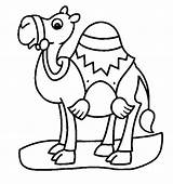 Coloring Pages Camel Animals Printable Cute Animal Prek Simple sketch template