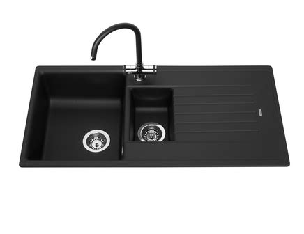 black composite kitchen sink black granite composite 1 5 bowl sink howdens joinery 4661