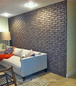 Faux brick panels contemporary home decor miami by for Kitchen cabinets lowes with outdoor metal star wall art