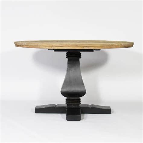 table ronde baroque pied central en bois noir noir achat vente table 224 manger seule table