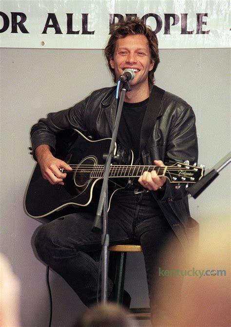 jon bon jovi acoustic concert  kentucky photo archive