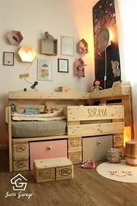 Bauen Für Kinder : palettenbett f r kinder kinderbett aus europaletten ~ Michelbontemps.com Haus und Dekorationen