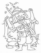 Coloring Hunter Happy sketch template