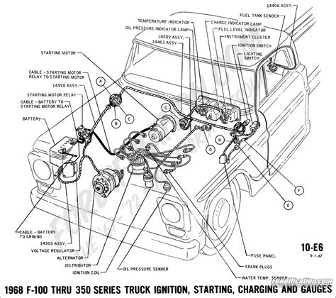 1964 Gm Engine Wiring Harnes Diagram by Ford Truck Technical Drawings And Schematics Section H
