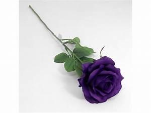 Artificial 60cm Single Elegance Purple Rose - Permabloom