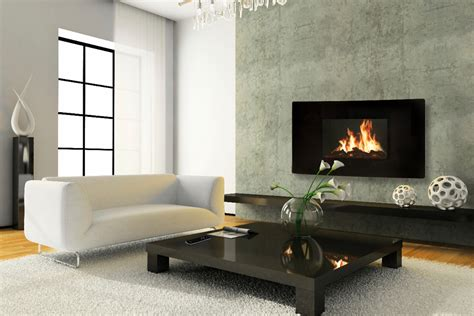 Living Room Table Sets by Modern Fireplace Designs