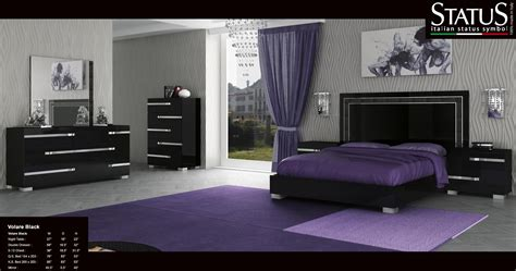 volare king size modern black bedroom set pc