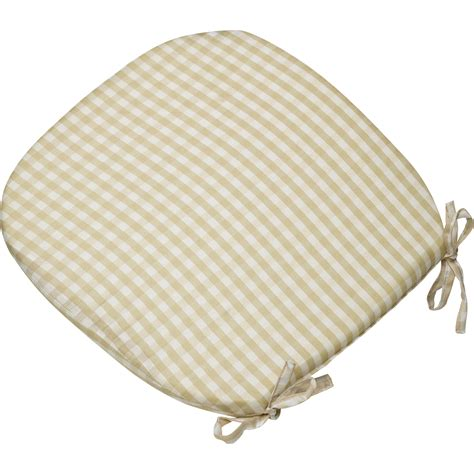 checked seatpad dining kitchen garden chair seat cushion