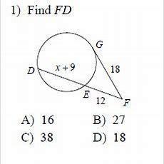 Circles  Segment Measures Worksheets