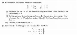 Matrix Kern Berechnen : untervektorraum lineares gleichungssystem l sungsmenge ~ Themetempest.com Abrechnung