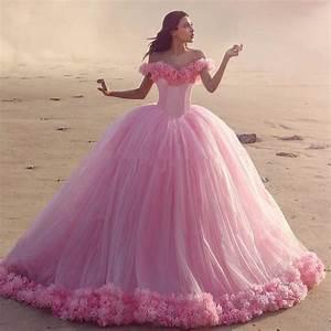 Cinderella Quinceanera Dresses Pink Princess Ball Gown