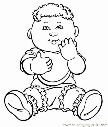Cabbage Patch Coloring Pages Cartoon Characters Sheets