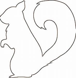 Squirrel Outline - ClipArt Best