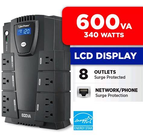 cyberpower intelligent 600va compact battery backup ups lcd amazon electronics 340w
