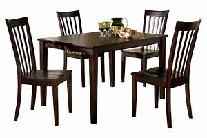 hyland dining room table and chairs set of 5 ashley With homemakers furniture memorial day sale