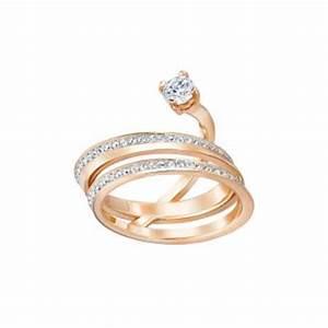 Bague Or Rose Swarovski : bracelet jonc double swarovski crystaldust bleu 5255908 5255903 pour femme ~ Melissatoandfro.com Idées de Décoration