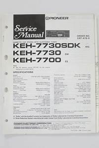 Pioneer Keh  Sdk   7700 Original Service Manual