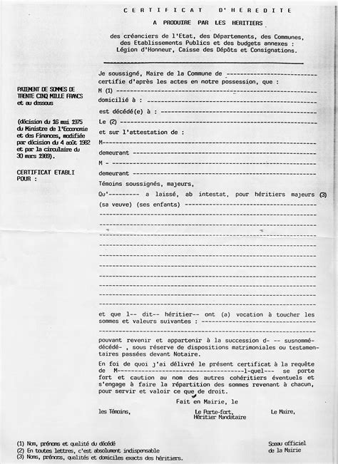 certificat d heredite avec porte fort certificat d heredite porte fort 100 images testament et succession lf notaires s e n c r l