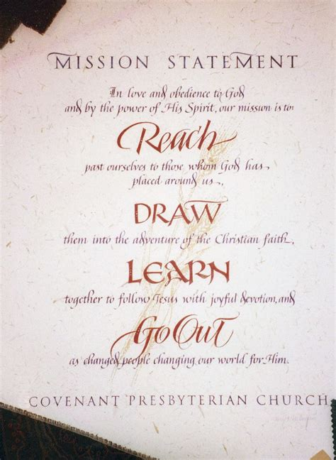 church mission statement mission projects christian