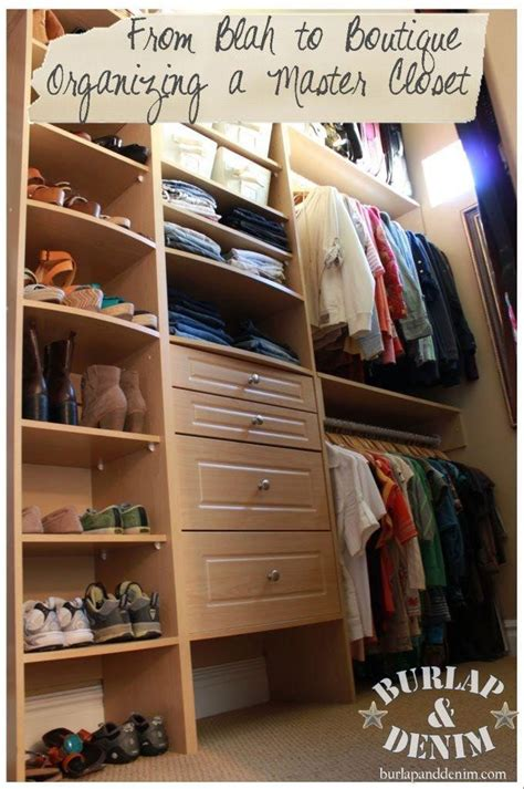 How To Organize A Walk In Closet {organizing A Master