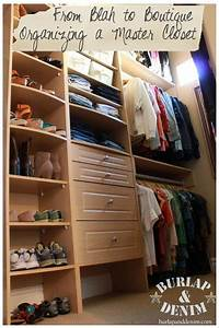 How to organize a walk in closet {Organizing a Master ...