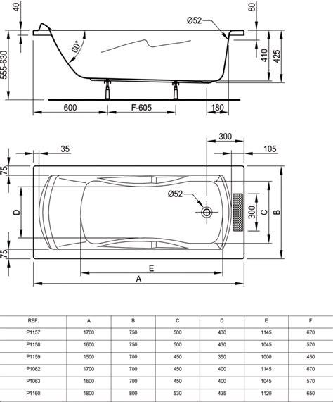 Badewanne Ideal Standard 1160 by Baignoire 180 X 80 Cm A Encastrer Seulement P1160