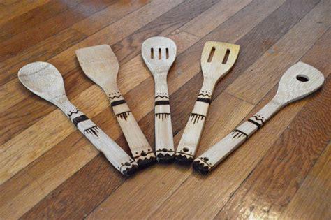 diy wood burned kitchen utensils  imagine daily
