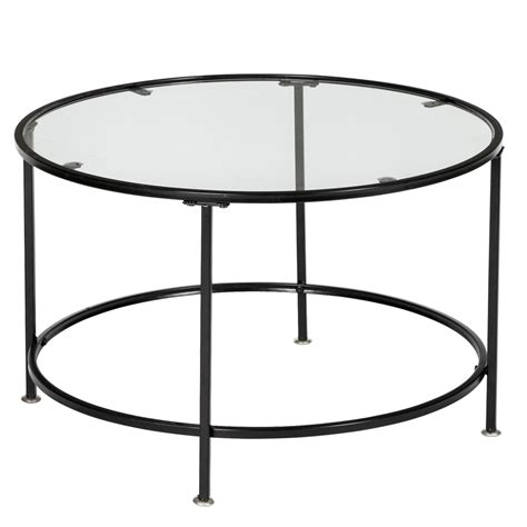 Search all products, brands and retailers of round tempered glass coffee tables: Artisasset 2 Layers 5mm Thick Tempered Glass Countertops Round Wrought Iron Coffee Table Black ...
