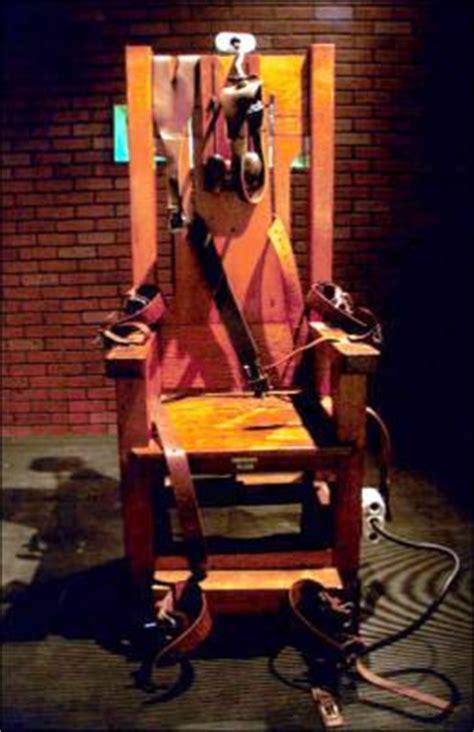 execution en direct chaise electrique chaise électrique