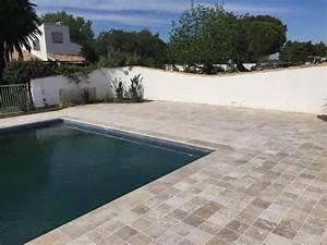 margelles piscine montpellier pour le revetement de votre With revetement piscine pierre naturelle