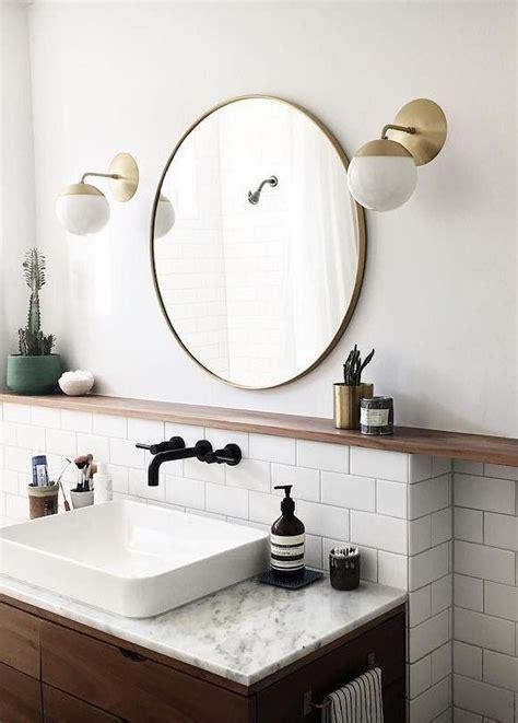 Brass Bathroom Mirror by 36 Quot Metal Framed Mirror In 2019 Bathroom