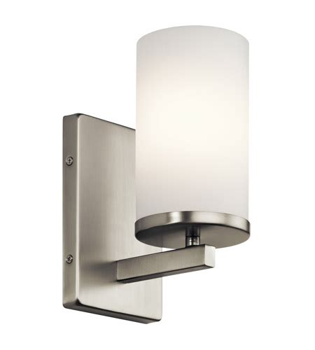 kichler 45495ni crosby 1 light 5 inch brushed nickel wall bracket wall light