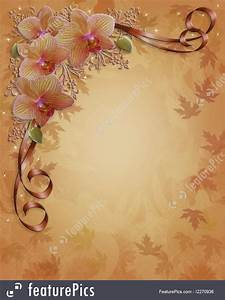 Release Of Information Template Fall Autumn Orchids Floral Border Illustration