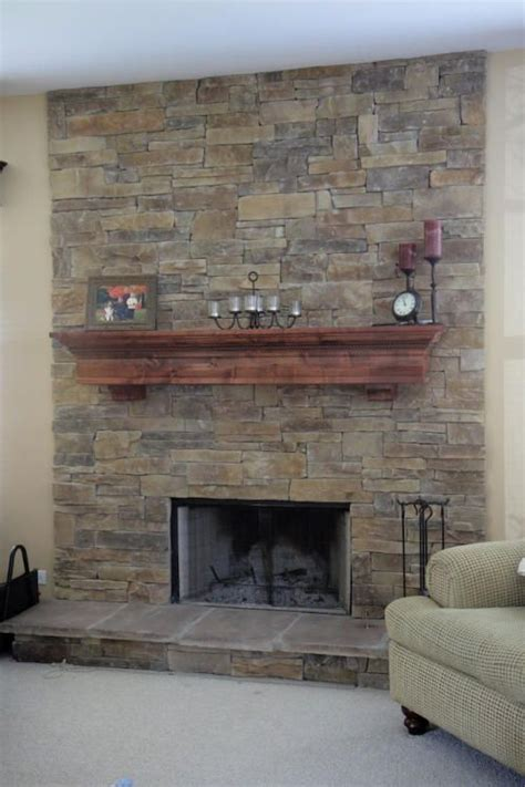 stacked tile fireplace mountain stack stone fireplace 5 stoves and fireplaces pinterest