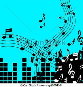 Stock Illustration of Green Music Background Shows Playing ...