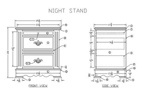 wood nightstand plans  woodworking