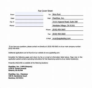 Sample Business Fax Cover Sheet 12 Documents In PDF Word