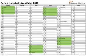 Ferien Nrw 2018 19 : ferien nordrhein westfalen 2018 ferienkalender zum ausdrucken ~ Buech-reservation.com Haus und Dekorationen