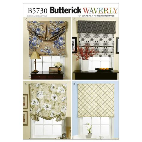 Fabric Valance by Butterick B5730 Window Shade And Valance Pattern Osz One