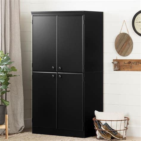 black storage cabinets south shore black storage cabinet 7270971