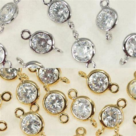 Rhinestone Connectors Metal Beads Pendant Earrings