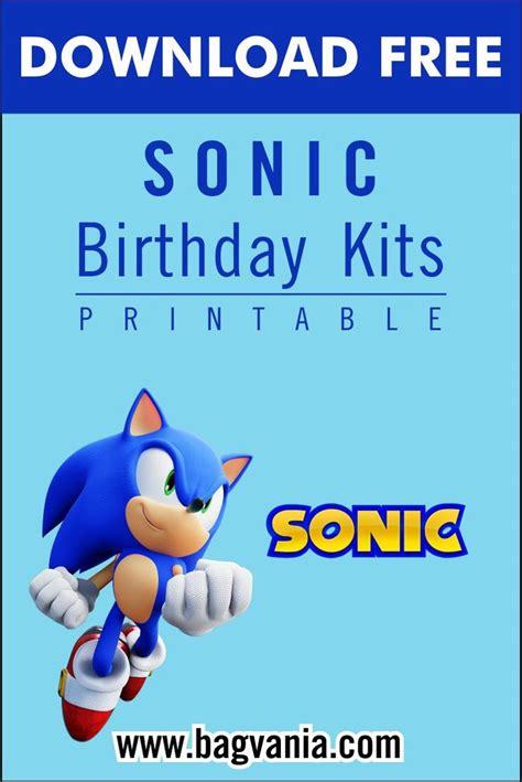 printable sonic  hedgehog birthday party kits