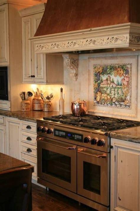 italian style tile backsplash  stove style ideas