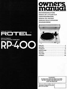 Rotel Turntable Rp